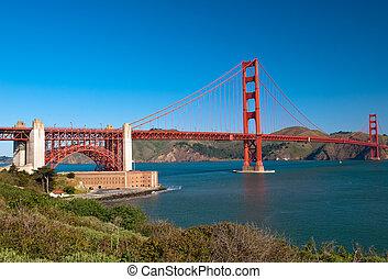 橋梁, francisco, san, 黃金, -, 門