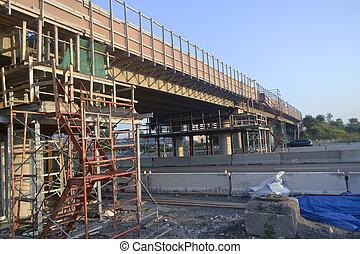 橋梁,  re-construction,  3