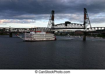 橋, かい ボート