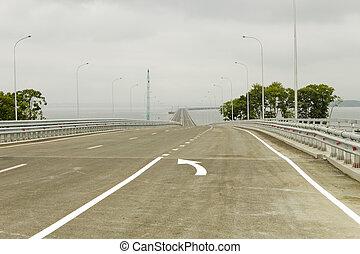 橋, によって, 湾