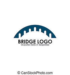 橋, アイコン, ベクトル, デザイン, ロゴ, テンプレート