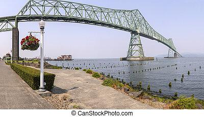 橋, ビュー。, astoria, パノラマ