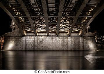 橋, ブダペスト, margit, 下に