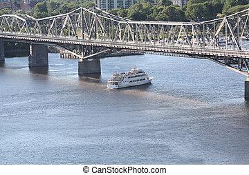 橋, ボート, &