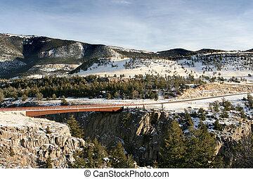 橋, 上に, 峡谷