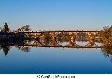 橋, 上に, 川, tay