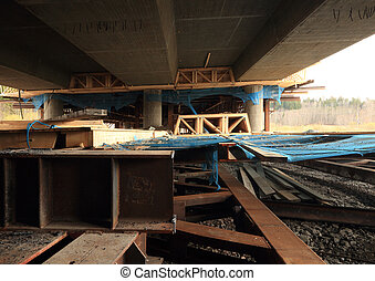 橋, 上に, 湿地帯