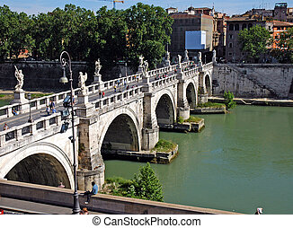 橋, 中に, ローマ