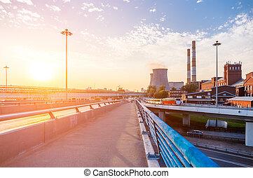 橋, 中に, ∥, 産業, 地区