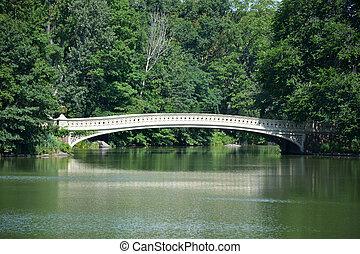 橋, 中央である, ny, アメリカ, 公園