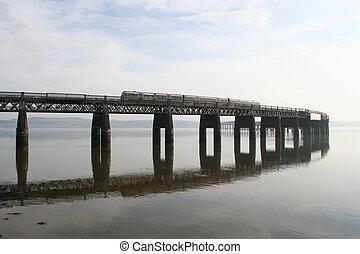 橋, 列車, tay
