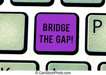 橋, 勇気, 写真, キーパッド, 挑戦, テキスト, 作成しなさい, 障害, アイロンかけ, empowerment, gap., 印, idea., intention, コンピュータのキー, キーボード, 概念, メッセージ, 提示, 勝ちなさい