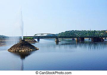 橋, 噴水