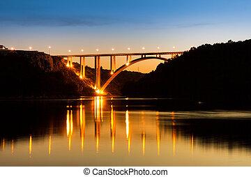橋, 夕方