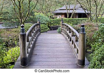 橋, 庭の日本人