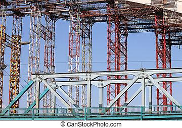 橋, 建築現場