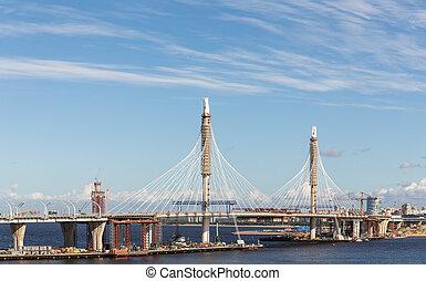 橋, 建設, 超高層ビル, 新しい