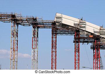 橋, 弧, 産業, サイト, 建設, 新しい