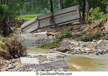 橋, 後で, 洪水