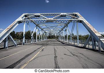 橋, 歩くこと, biking, spokane, wa。