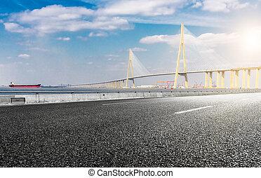 橋, 現代, 道, アスファルト, kong