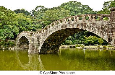 橋, 石の庭, isahaya, 日本語, 日本