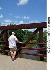 橋, 縦, 光景