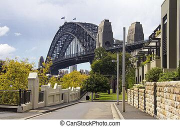 橋, 通り, シドニー 港