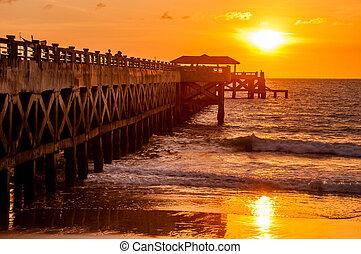 橋, 驚かせること, 日の出