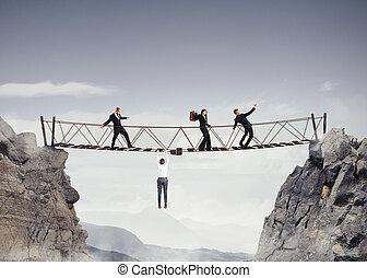 橋, 3d, 危険, レンダリング