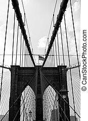 橋, brooklyn, 門