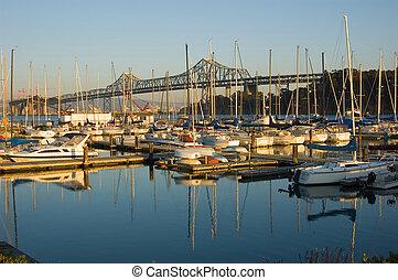 橋, francisco, san, 湾
