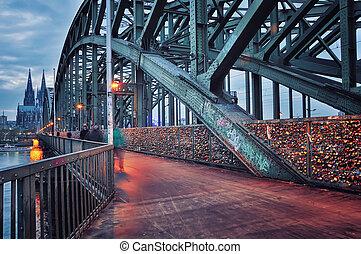 橋, hohenzollern, ドイツ, オーデコロン