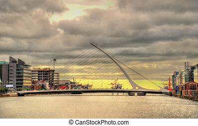 橋, samuel, ダブリン, アイルランド, beckett, 光景
