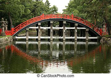 橋, sumiyoshi, 大阪, -, 神社, 日本, taisha