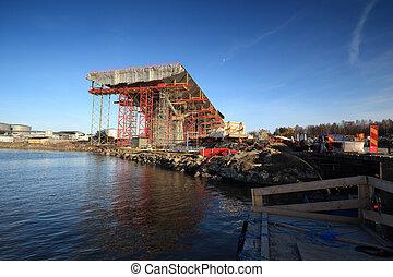 橋, sundsvall, 湾