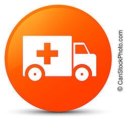 橙, 按鈕, 救護車, 輪, 圖象