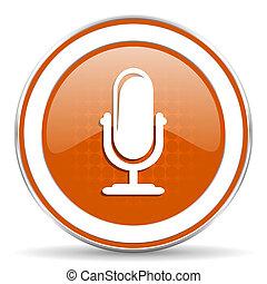 橙, 話筒,  podcast, 圖象, 簽署