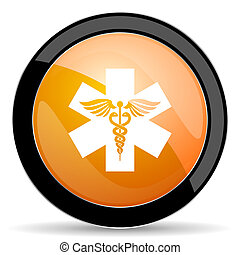 橙, 醫院, 圖象, 緊急事件, 簽署