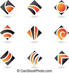 橙, 鑽石, 圖象