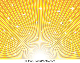 橙, 陽光普照, 黃色的背景