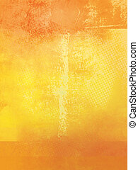 橙, 黃色, grunge, 背景