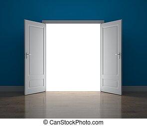 機会, ドア, 新しい