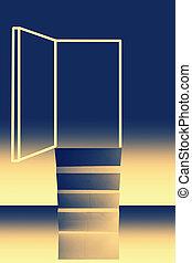 機会, 概念, ドア