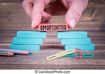 機会, 概念, ビジネス