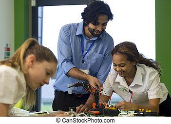 機器人, 技術, 在, 學校