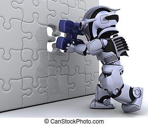 機器人, 由于, the, 決賽, 塊難題