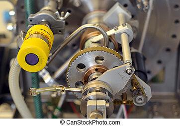 機器, 實驗室, 部分, 齒輪, 細節