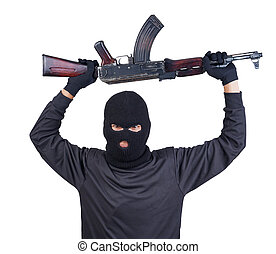 機器, 恐怖分子, 槍, ak47