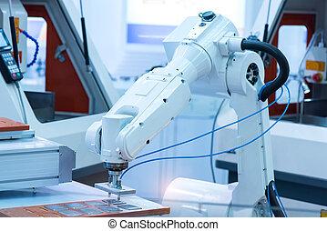 機器, 由于, 機器人, 在, 工廠